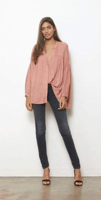 Tress Top in Apricot by Young Fabulous and Broke