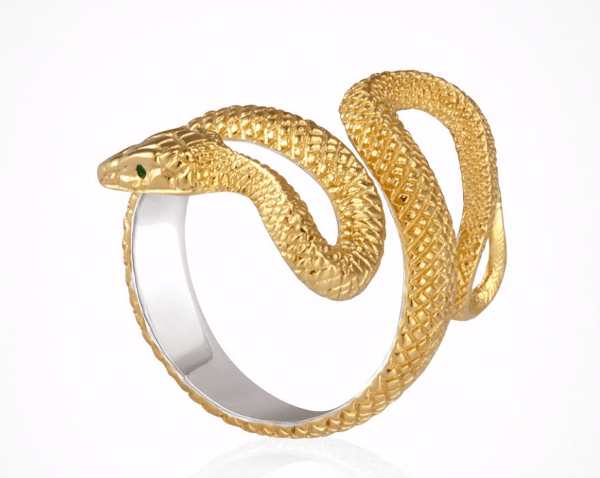 Serpent Ring in Gold by Temple of the Sun