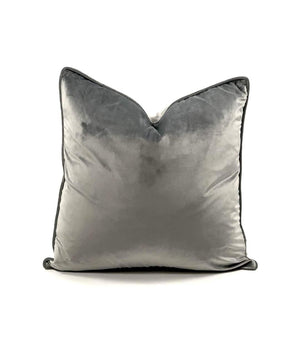 Velvet Pillow in Slate
