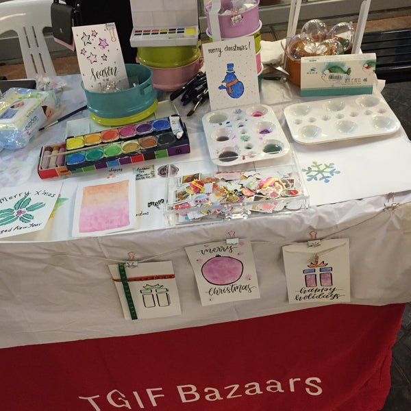 Mindful Water colour pop up  booth