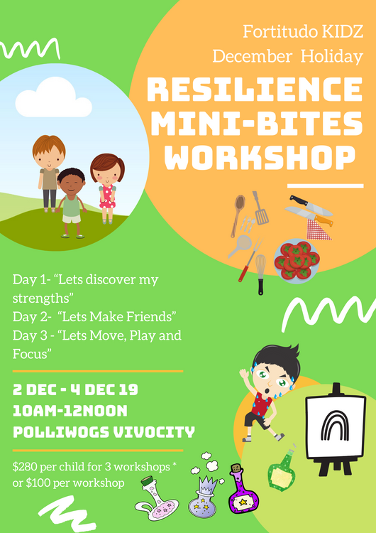 December 2019 Resilience Mini-bites workshop (Day 3  2 spaces left)