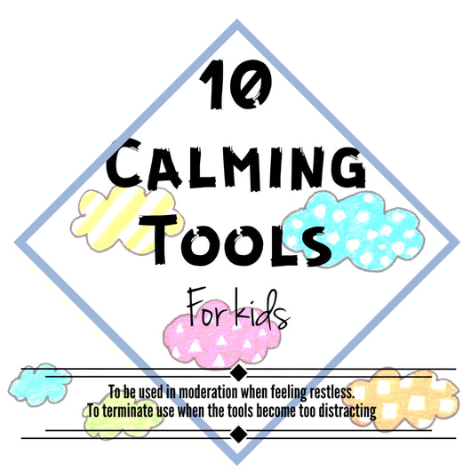Calming Tools little reminder card set (for kids)