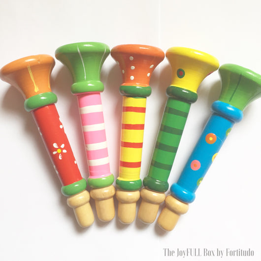 Colourful Wooden Mini Trumpet (Oral-motor tools)
