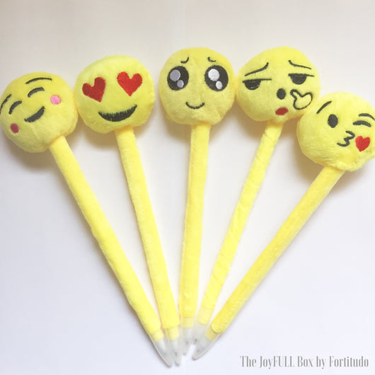 Soft and Funny Emoji Pens (Touch and Feel Tactile Tools)