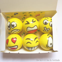 Funny Squishy Emoji Stress-balls (Touch and Feel Tactile Tools)