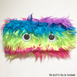 Furry Rainbow Pencil Case- Messy Hair (Touch and Feel Tactile tools)