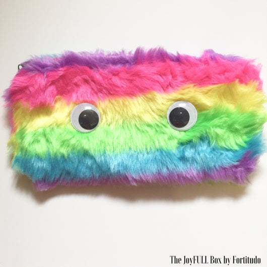 Furry Rainbow Pencil Case- Neat Version  (Touch and Feel Tactile tools)