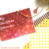 DIY Christmas Card Pack- Design Red Leaves