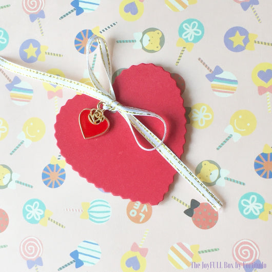 Minimalist heart shaped Charm Set