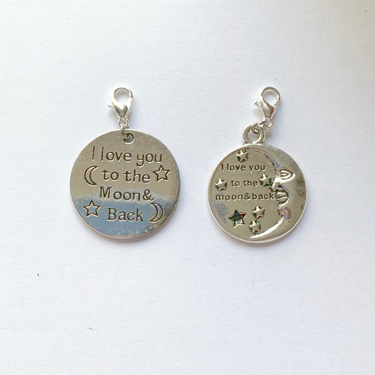 I Love You to the Moon and Back Charms (1pc)