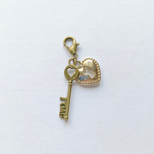 Key to your/my heart Charms (2pc- set)