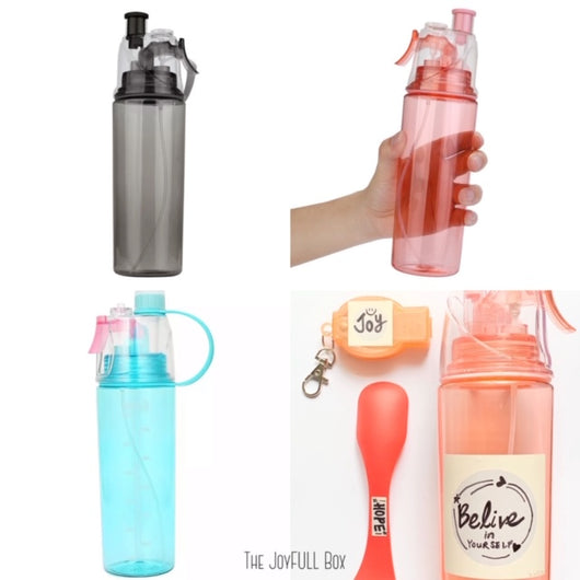 Inspirational Personalized Spray Water Bottle (600ML)