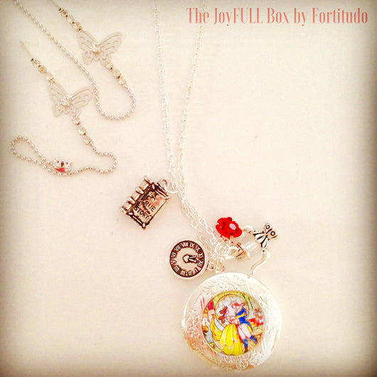 Beauty and The Beast locker necklace