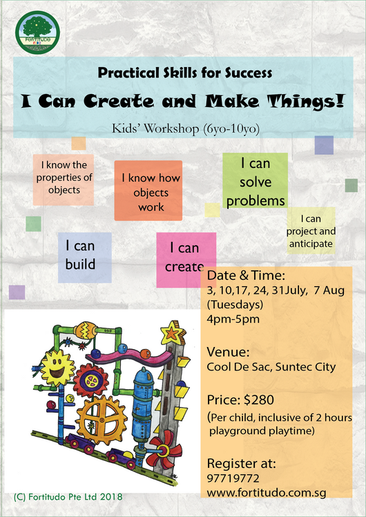 I Can Create and Make Things! (6Y-10Y Kids' Workshop)