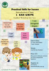 I Can Write Workshop (Toddler 2Y-5Y)