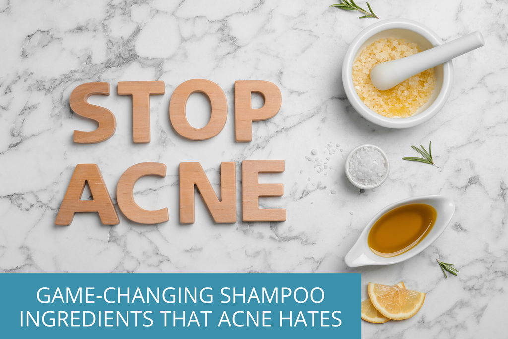stop acne with our 4 acne-preventing shampoo ingredients
