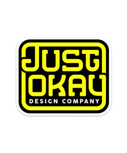 Just Okay Design Company Sticker