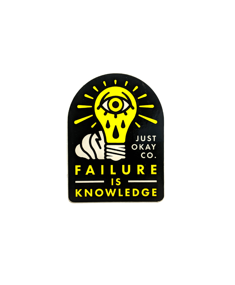 Failure is Knowledge Sticker