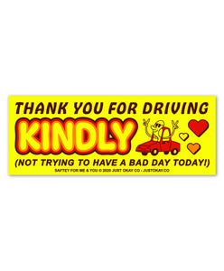 Drive Kindly Bumper Sticker