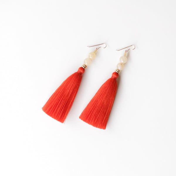 Lina Earrings - Paprika