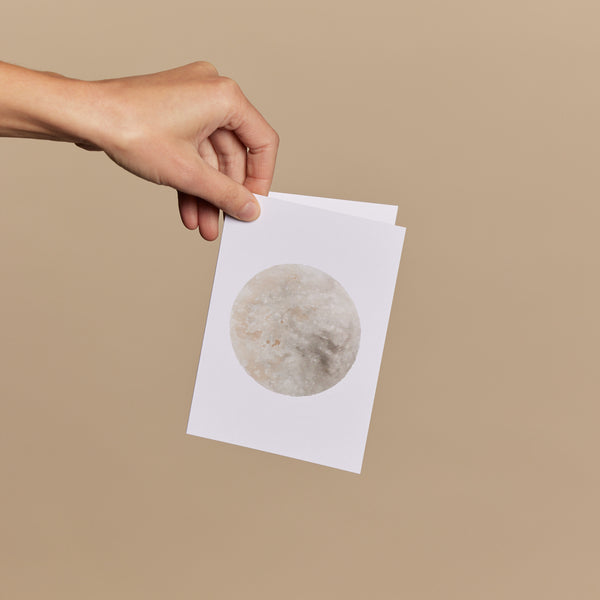 Moon – Natural Watercolour Art Print Greeting Card
