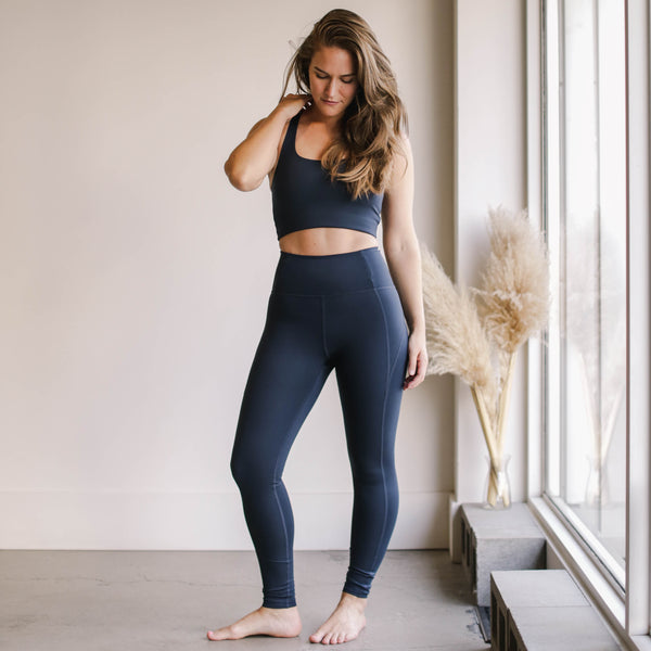High Rise Classic Compressive Leggings - Midnight
