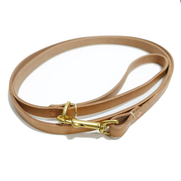 Dog Leash - Brass + Leather