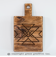 Engraved Wooden Bread Board, Azteca Bread Board- Serving Board Cutting Board