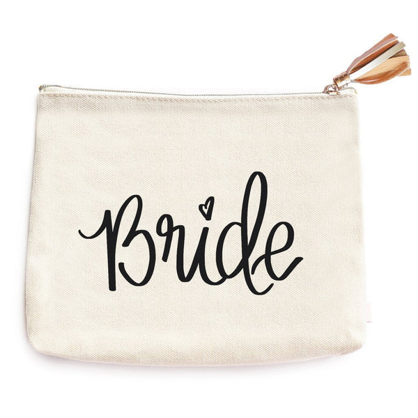 Bride Makeup Bag- Travel Bag- Canvas BagsRanch Junkie