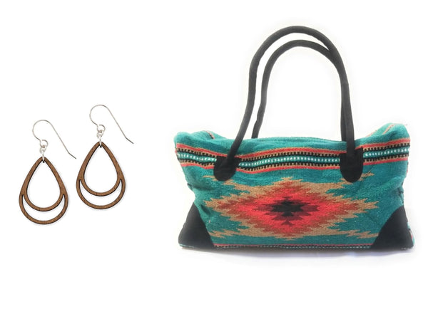 Bags earrings The Campos Go West Gift Bundle #3-Set Of 2- Weekender Bag -  Wood Simple Drop Earrings