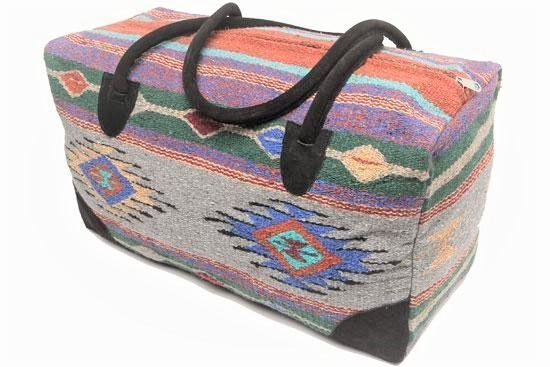 Bags Southwestern Large Weekender Travel Bag Duffle Bag Boho Travel Bag- The Sara Go West Weekender