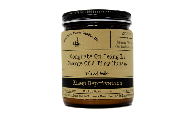 candle Congrats On Being In Charge Tiny Human -Sleep Deprivation Candle Funny Gifts