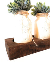 Wood Candle Holder_Mason Jar Holder_4 inch Bottle Holder- Cheese Mold Candle HoldersRanch Junkie