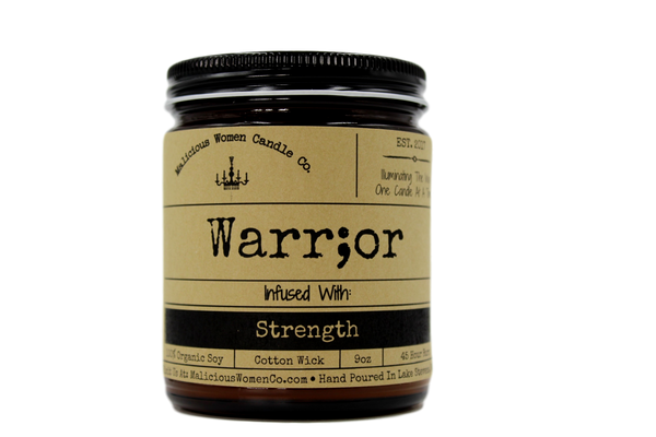 candle Warrior - Infused with Strength Candle