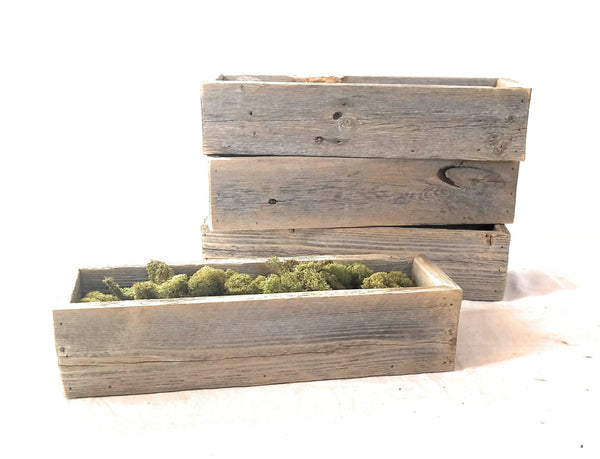 Farmhouse Rustic Barnwood Catch All/Decorative Tray- The Nest Box Catch All and Mason Jar BoxesRanch Junkie