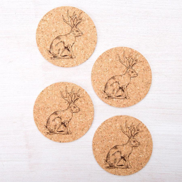 Jackalope Cork Coasters- Set of 4 CoastersRanch Junkie