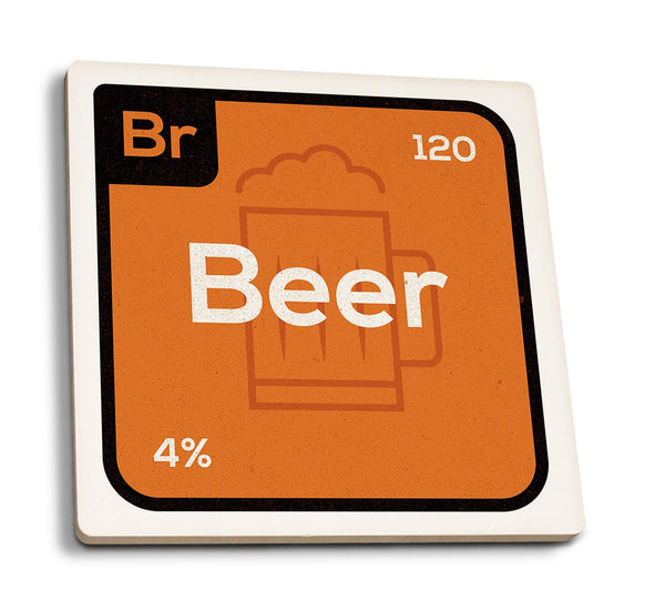 Coasters Periodic Drinks Beer Ceramic Coaster- Set of 4