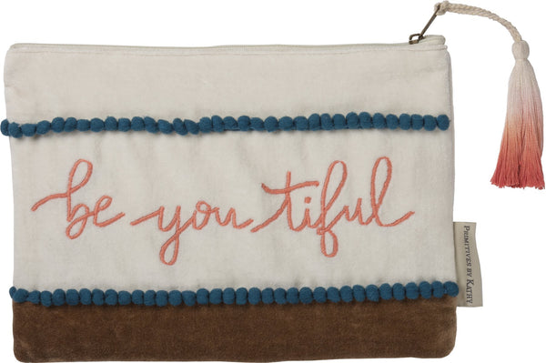 cosmetic bags Be You Tiful Makeup Bag Zipper Pouch