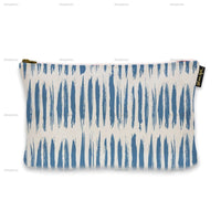 "cosmetic bags 9"" x 6"" 'Blue Stripes Pattern' Pouch"