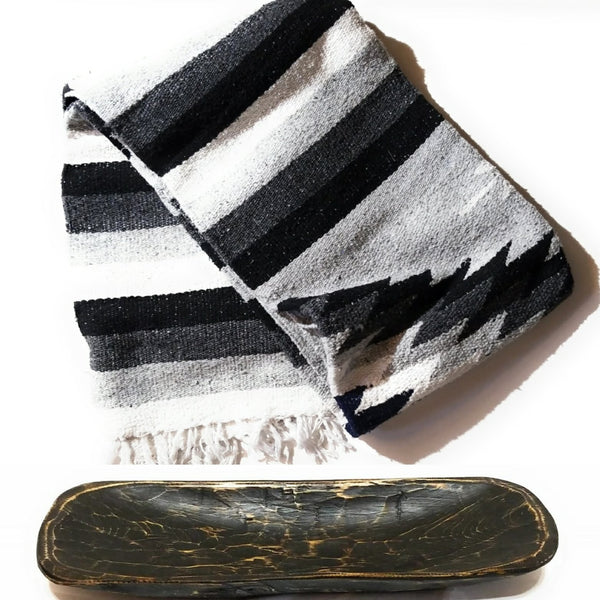 dough bowl blanket The Ebony Dough Bowl + Whitecap Arizona Blanket Bundle