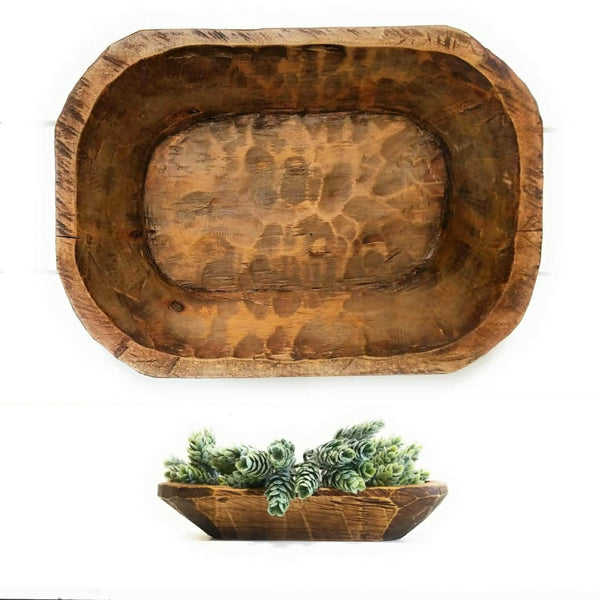 dough bowls Medium Durango Dough Bowl + Itty Bitty Wood Bowl Bundle