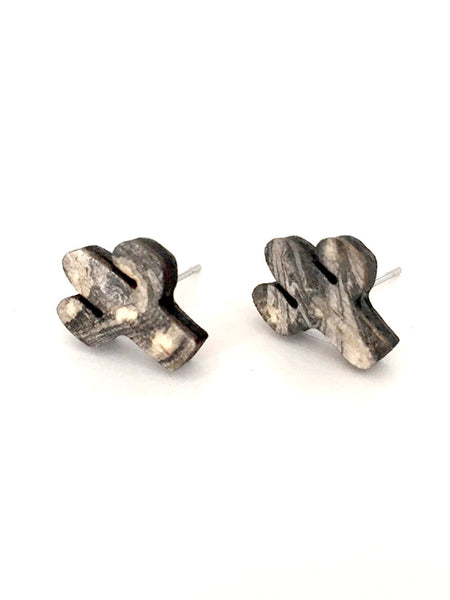 earrings Cactus Earrings- Hypoallergenic >> Marbled Cactus Design