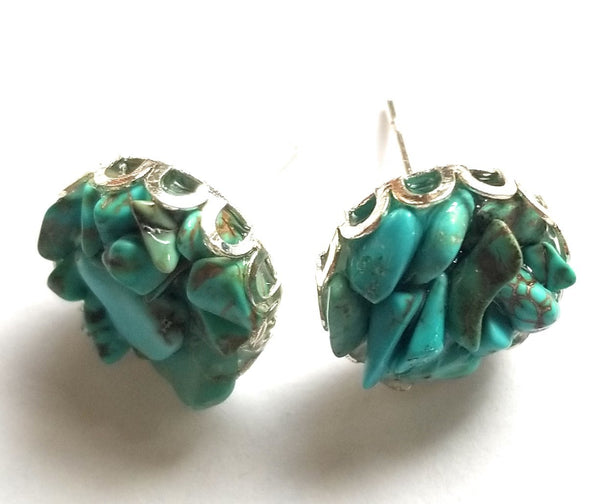 earrings Turquoise Stud Earrings 12mm