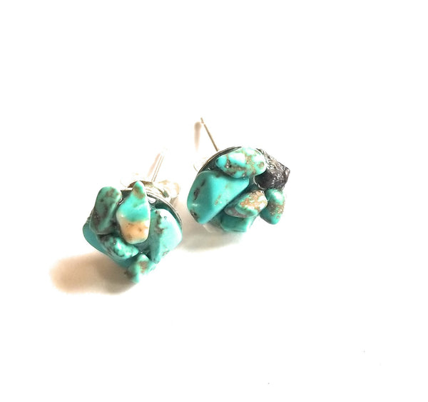 earrings Turquoise Stud Earrings - 8mm Sterling Silver