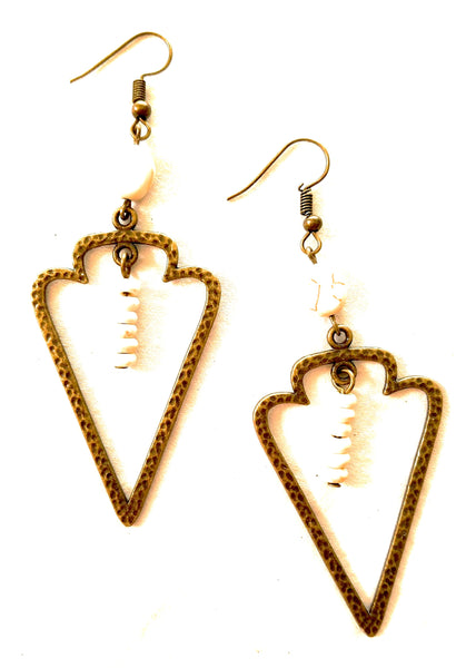 Arrow head hammered earrings earringsRanch Junkie