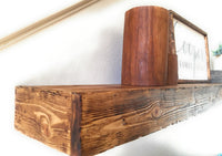 "Floating Shelf 10"" Depth -Handscraped Wood Floating Farmhouse Rustic Shelf ,Shelves- Free Shipping floating shelfRanch Junkie"