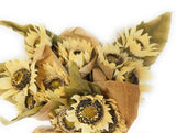 floral Cream Sunflower Bundle In Paper- Farmhouse Floral Spray
