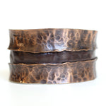 Jewelry Bracelet Lou Horton Sculpture - Rift Copper Cuff