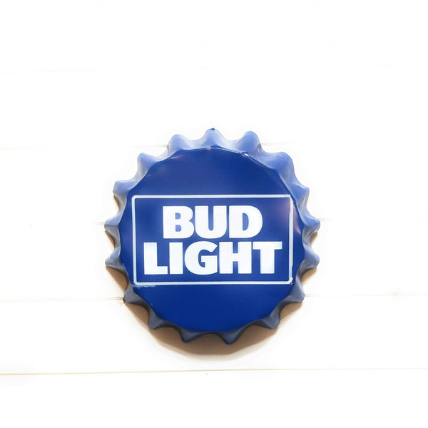 Metal Sign Bud Light Beer Bottle Cap Sign Beer Metal Sign Beer Sign Bud Light Metal Sign