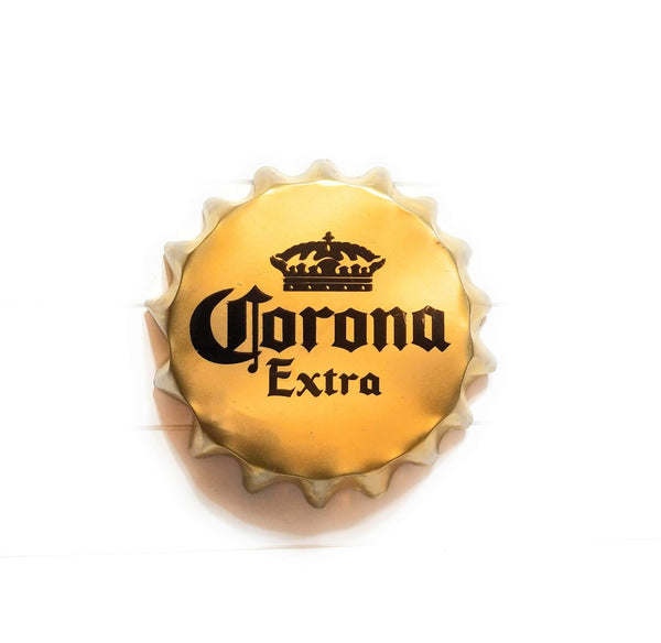 Metal Sign Corona Beer Bottle Cap Sign Beer Metal Sign